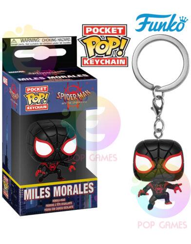 MILES MORALES Funko POP Keychain Marvel Spider-Man Vinyl Figure PORTACHIAVI