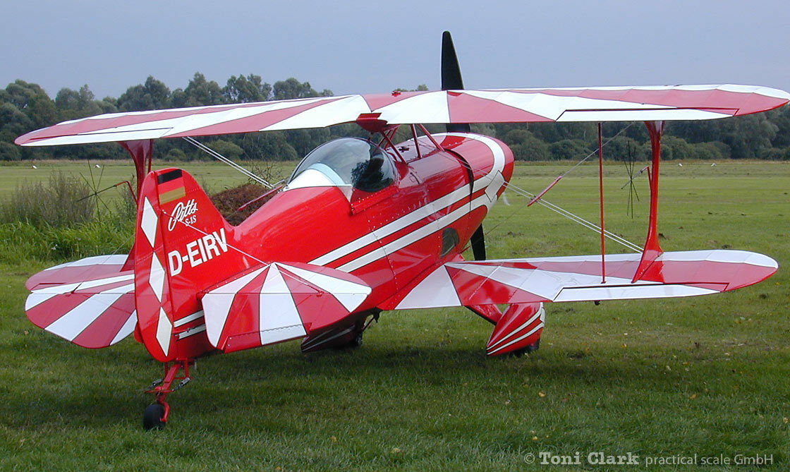 1 2 Scale (50 %) Pitts S-1 104 inch Wing Span    Printed Plans