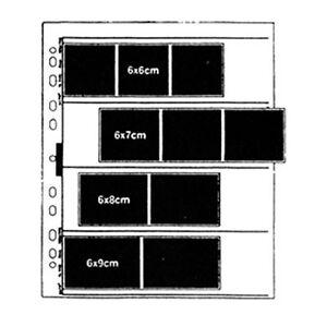 100 X CLEAR NEGATIVE SHEET 60mm 120 Films Filing 6x6 6x7 6x8 6x9cm for FILEBOX i