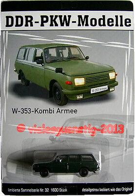 32 DDR Modelle Wartburg W 353 Kombi Armee ca.7cm Nr