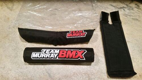 NOS Team Murray BMX Black Pad Set Old School Pads