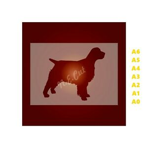 SPANIEL-Dog-Stencil-Strong-350-micron-Mylar-not-Hobby-stuff-DOGS017