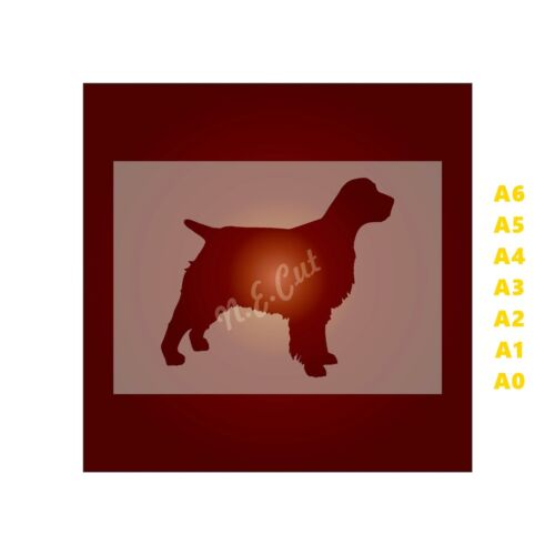 SPANIEL Dog Stencil-Strong 350 micron Mylar not Hobby stuff #DOGS017