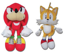 NEW GE Sonic the Hedgehog Series Stuffed Plush Toys Set of 2 - Knuckles & Tails
