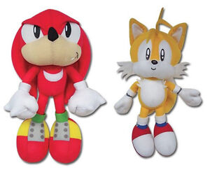 Real Set Of 2 Ge Sonic The Hedgehog Series Knuckles Tails Stuffed Plush Toys Ebay