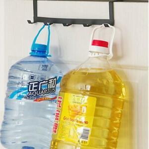 Over-The-Door-Hook-Rack-Metal-5-Hooks-Hanger-Storage-Holder-Hanging-Hats-Coats