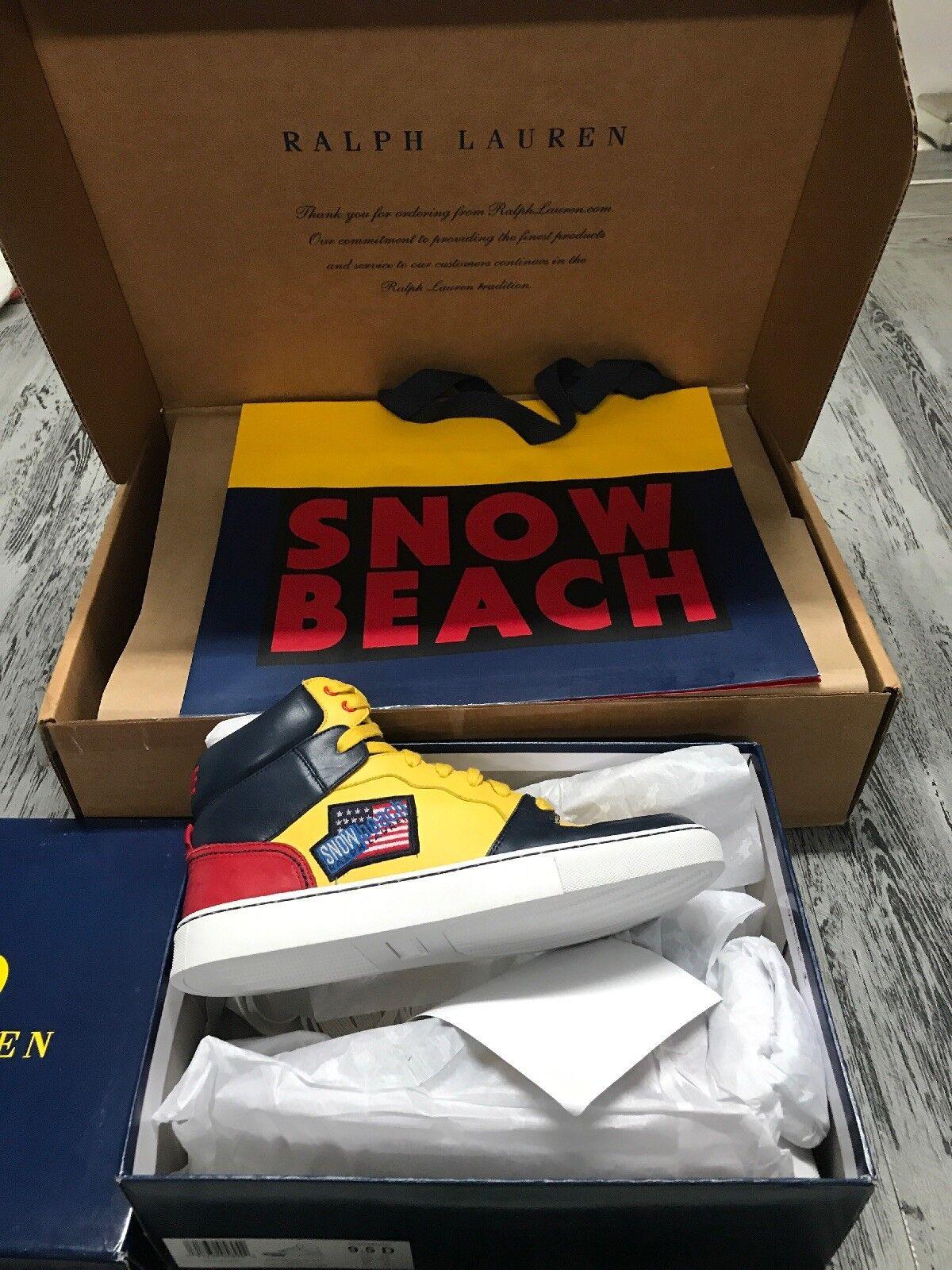 Polo Ralph Lauren 1992 Snow Beach Wave scarpe scarpe da da da ginnastica 9.5 US 8.5 UK Stadium Pwing eac235