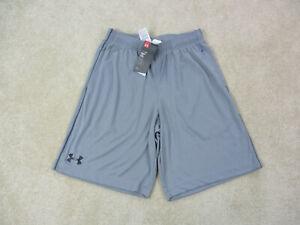 NEW-Under-Armour-Shorts-Adult-Medium-Gray-Black-Basketball-Athletic-Gym-Mens-A59