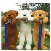 60cm200cm Giant Big Cute Plush Stuffed Teddy Bear Soft 100% Cotton Toy Gift