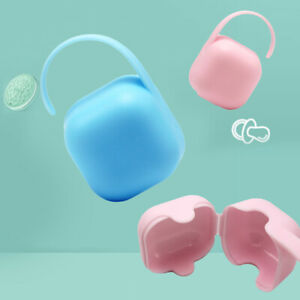 3x Plastic Babys Infant Travel Soother Pacifier Dummy Portable Storage Case Box