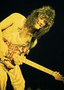 Image Is Loading Art Print POSTER Eddie Van Halen Playing Guitar