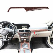 For Benz C Class 2010 2014 Agate Wood Grain Center Console Dashboard Panel Trim