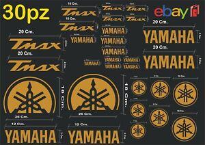MAXI-KIT-30-PZ-DI-ADESIVI-YAMAHA-OLD-TMAX-T-MAX-500-530-COLORE-ORO