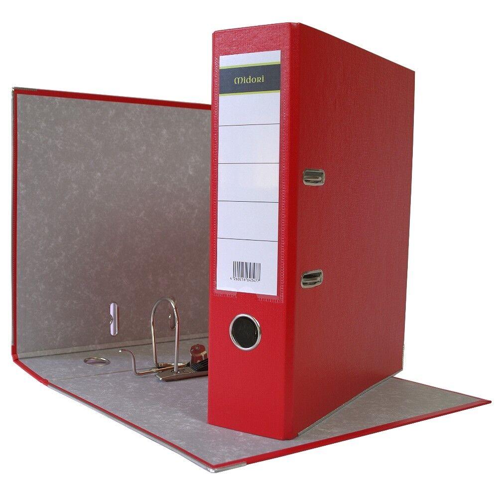 60 x Ordner A4 8cm PP Kunststoff Rot Aktenordner Briefordner Breit Büro | Elegant und feierlich  | Nicht so teuer  | Großartig