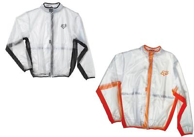 Mud Jacket Clear Orange Motocross//MX//ATV//MTB Bike Fox Racing MX Fluid Rain