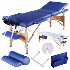 "3 Fold 84""L Portable Facial SPA Bed Massage Table Sheet+2 Bolsters+Cradle+Hanger"