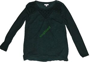 New-Women-039-s-Maternity-Top-Green-Liz-Lange-Long-Sleeve-Shirt-NWT-Size-XS-S-M-L