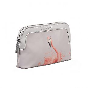 8ddf5bcc16ef Details about Wrendale Designs Small Cosmetic Make-Up Toiletry Bag Pink  Lady Flamingo