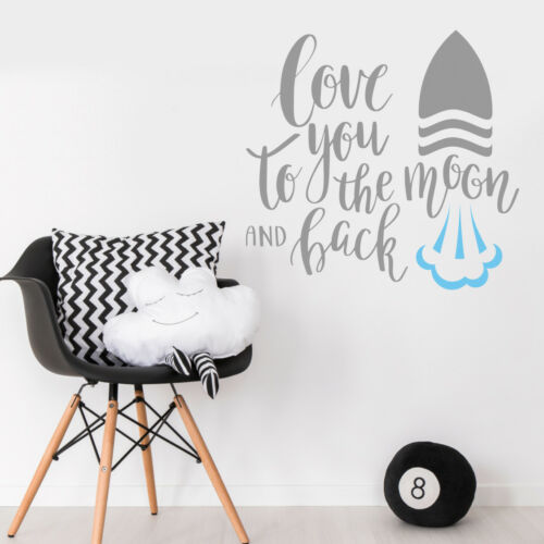 Love You To the Moon /& Back Quote Wall Sticker Baby Nursery Bedroom Decal
