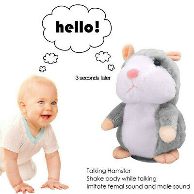 Talking Hamster Electronic Plush Cute Toy Mouse Pet Toy Gift For Children US