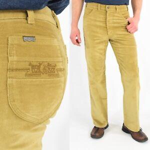 1970's Vintage Men's 31 Levi's Corduroy Pants Casual Straight Leg Dark Brown rwuW4