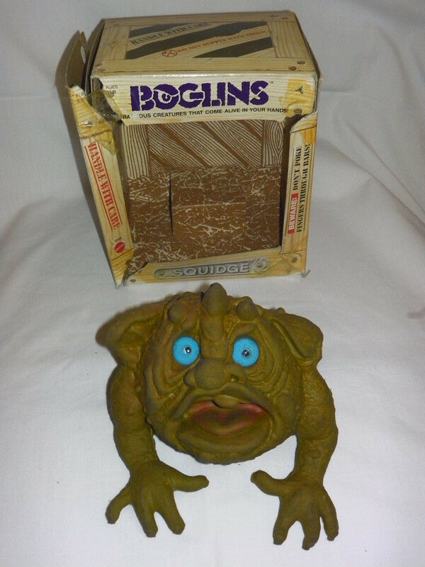 BOGLINS SQUIDGE 1987 HAND PUPPET RARE MATTEL EXCELLENT CONDITION WITH BOX