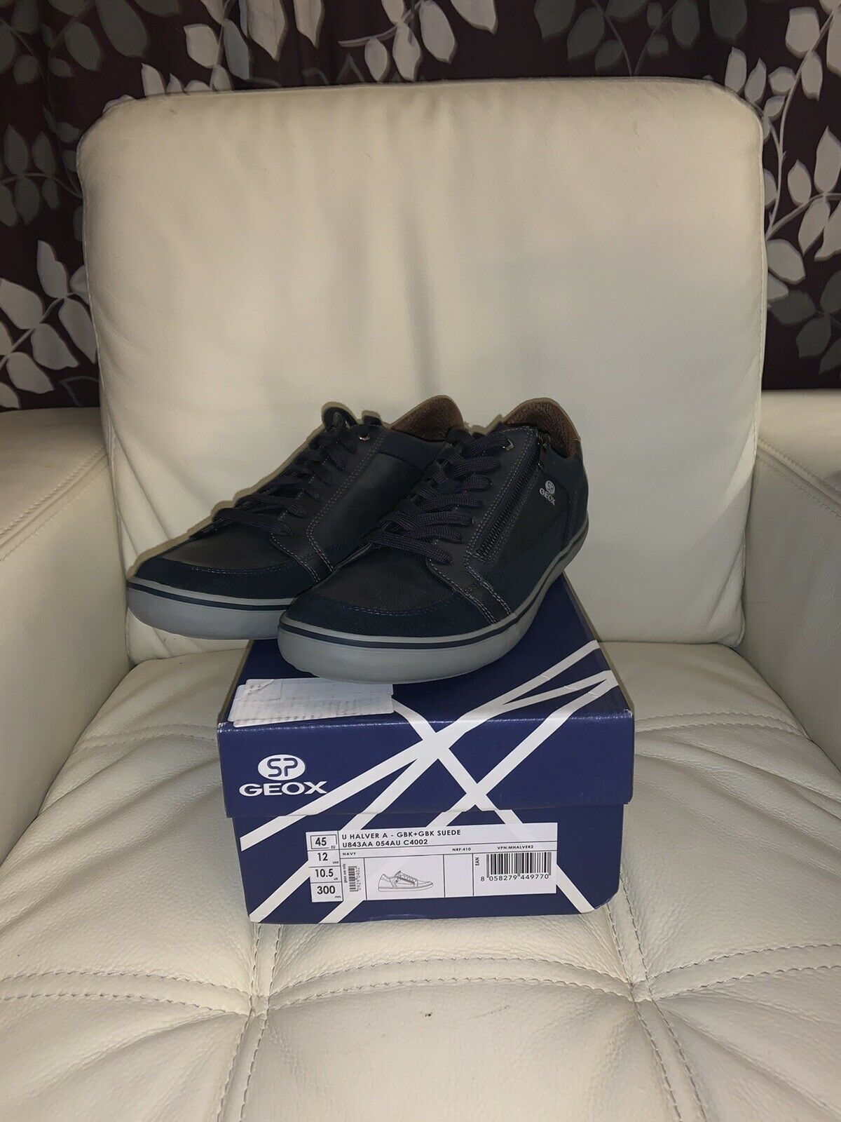 SP Geox - Navy - Size 10.5 UK (NEW WITH BOX)