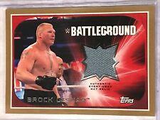 Brock Lesnar 2016 WWE Topps Gold Used Mat Relic Battleground 5/10