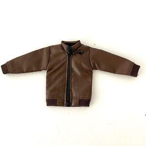 SU-ZPJK-TN: 1/12 Dark Brown Zipper Jacket for Mezco, Marvel Legends (No Figure)