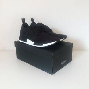 7f8d6e7caff9a Adidas NMD R1 Primeknit PK Winter Wool Core Black Grey White UK 8 ...