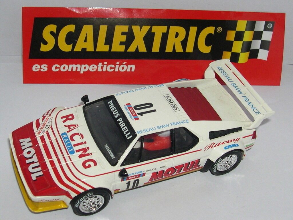 SCALEXTRIC SPAIN PLANET RALLY MYTHICAL BMW M1 DARNICHE-MAHE LTED. ED. MINT