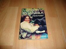 GORILAS EN LA NIEBLA DE DIAN FOSSEY LIBRO EDICION DEL AÑO 1990 USADO