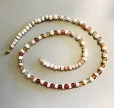 Ancient Egyptian-Roman Agate & Drawn Glass Beads Necklace Jewellery Gold Plated