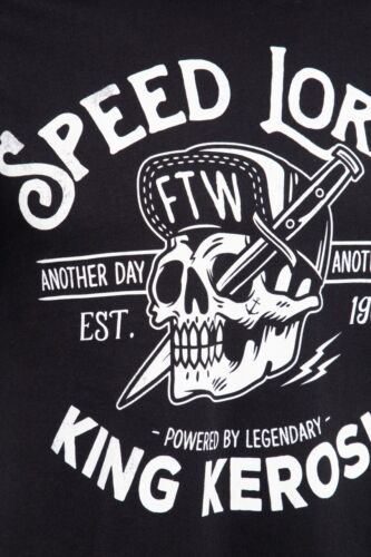 King Kerosin Speed Lords F.T.W T-Shirt Oldschool Rockabilly Biker Style Kult Neu