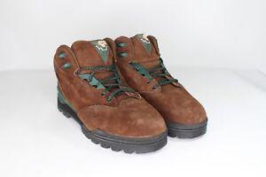 Vtg marrone pelle escursionismo Stivali tec 9 New da Uomo canaglia 5 in Hi scamosciata scamosciata grwaUqxBg