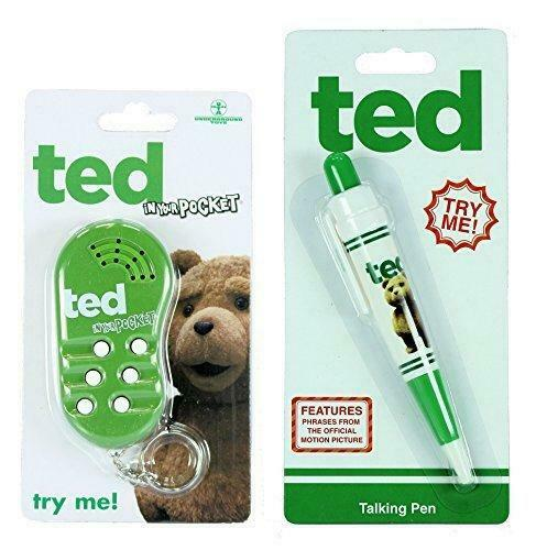 Ted in your Pocket sounds keyring /& Ted Talking Pen Twin Pack