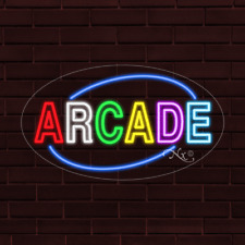 Brand New Arcade Withborder Oval 30x17x1 Inch Led Flex Indoor Sign 34570