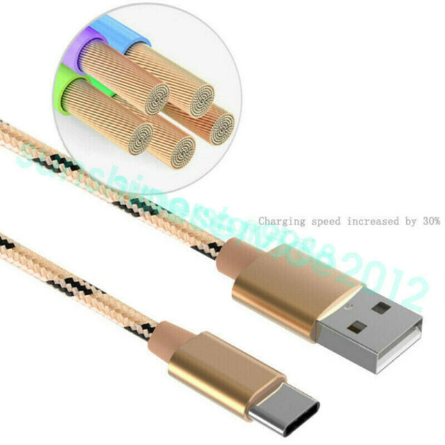 1M Heavyduty Braided Fast Charge USB C Type C Data Phone Charger Cable