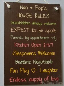 Grandparents-House-Rules-Black-Kids-Cute-Rustic-Wooden-Nan-amp-Pop-039-s-Wall-Sign