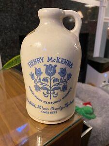 Vintage Henry McKenna Kentucky Whiskey Jug 4/5 QT Tennessee Tax Sticker Crazing