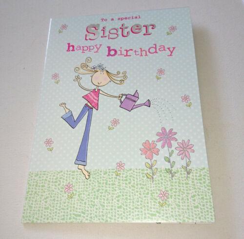 "FEMALE RELATIVES HAPPY BIRTHDAY CARD Sister Mum Nan Auntie 5x7/"" White Env NICE"