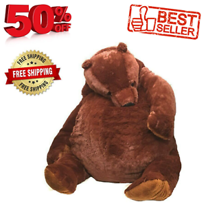 100cm giant simulation DJUNGELSKOG bear toy Brown Teddy Bear Stuffed Animal Toy*