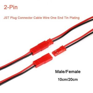 20 Pcs Male Female Plug JST Socket Connector Cable Electronic Wire 11cm New