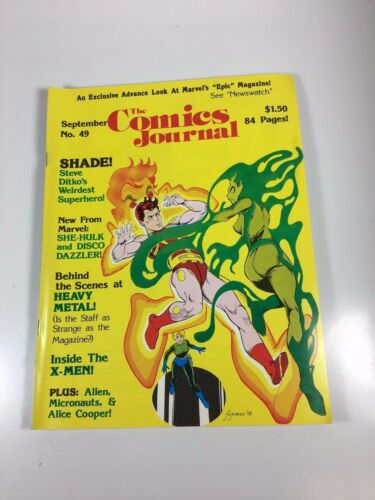 Comics Journal #49 September 1979 Ditko, XMen VGF