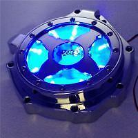 Blue LED Billet Engine Stator cover see through for HONDA CBR1000RR 2004-2007
