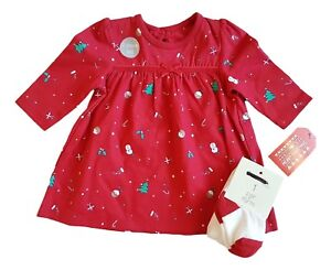 26c5a01b3 Baby Girls Christmas Xmas Santa Claus Dress Tights Outfit Costume ...