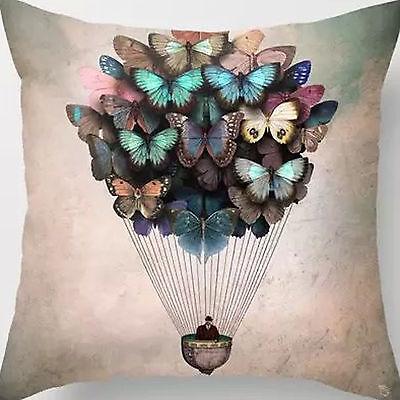 18'' Super Soft Cotton Velvet Butterfly Balloon Pillow Case Cushion Cover New