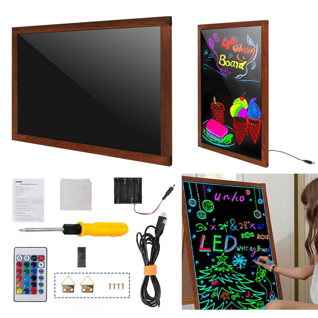 Sensory LED Writing Board Light Up Flashing Box Message Erasable Toy & Remote UK