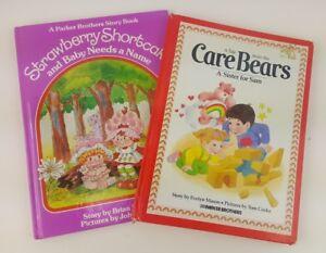2-Vintage-Strawberry-Shortcake-Care-Bears-Children-039-s-Books