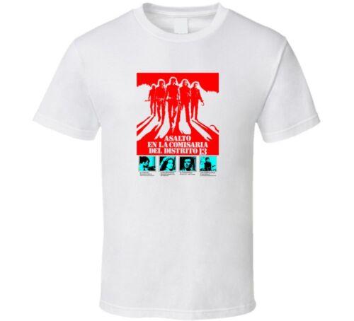 ASSAULT ON PRECINCT 13 MOVIE 70s 1 shirt black white tshirt men/'s free shipping